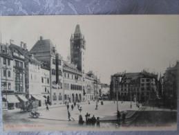 BASEL RATHAUS UND MARKTPLATZ - BS Basle-Town