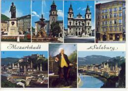 Mozartstadt SALZBURG - Mehrbildkarte - Salzburg Stadt