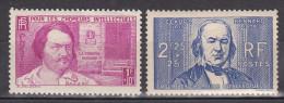 N° 438 Et 439 Au Profit Des Chômeurs Intellextuels: H.Balzac Et C. Bernard:Timbres Neuf Sans Charnière Gomme D´origine - France