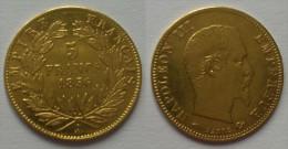 Pièce De 5 Francs OR NAPOLEON III De 1856 A - J. 5 Francs