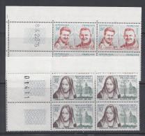 FR - 1959 - N° 1213/1215 - 1217/1223 EN BLOCS DE QUATRE AVEC COINS NUMEROTES - XX - MNH - TB - - Nuovi