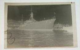 Négatif Photo Le Duguay à Quai (construction Arsenal De Brest )  - Navire De Guerre Croiseur Léger - WW2 - Bateaux
