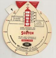 SCOTCH / TABLEAU POUR CALCULER LES TEMPS D' ECOUTE DES BANDES MAGNETIQUES - Other