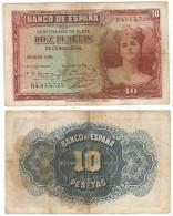 España - Spain 10 Pesetas 1935 Pick 86.a Ref 391 - [ 2] 1931-1936 : République