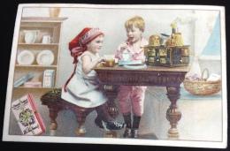 Suchard Chromo Enfant Dinette Petite Cuisinière Ustensiles Cuisine Chocolatière - Suchard