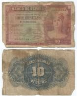 España - Spain 10 Pesetas 1935 Pick 86.a Ref 393 - [ 2] 1931-1936 : République
