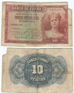 España - Spain 10 Pesetas 1935 SIN SERIE Pick 86.a Ref 680-2 - 10 Pesetas