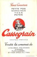 Dépliant Fines Conserves CASSEGRAIN - Livret Délivré à Rouen 76000 Rue Rollon Vitafroid - Conserves Et Produits Surgelés - Publicités