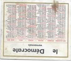 Calendrier De Poche/JOurnal/Le Démocrate Vernonnais/Vernon/Eure/1971      CAL280 - Calendars