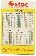 Calendrier De Poche/Supermarché/STOC/Style Carte De Crédit/1995      CAL278 - Calendriers