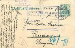 "ENTIER POSTAL - CACHET DEPART BERLIN - 19110 - TO BUDAPEST - HONGRIE - CARTE ""DAVID COHN"". - [5] Berlin"