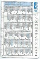 Calendrier De Poche/LANDESBANK/Autriche/1994      CAL286 - Calendars