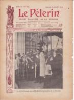 """LE PELERIN 5 Juillet 1908 Le Roi DePortugal, Plusieurs """"nègres"""" Lynchés Aux USA, Leshah Fait Un Coup D´état Perse - 1900 - 1949"""