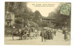 438 C.Marmuse.  Paris,  Buttes Chaumont, L'entrée Du Parc Rue Manin - Timbre Recto- 2scans - France