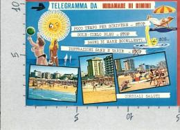 CARTOLINA VG ITALIA - MIRAMARE DI RIMINI - Telegramma - Vedutine - 10 X 15 - ANN. 19?? - Rimini