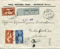 5999 Liban,  Cover Circuled 1931 To Italy - Liban