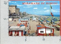 CARTOLINA VG ITALIA - MIRAMARE DI RIMINI - La Spiaggia - 10 X 15 - ANN. 1982 - Rimini