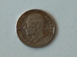 ESPAGNE 50 CENT 1880 Silver ARGENT - Autres