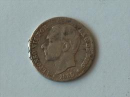 ESPAGNE 50 CENT 1885 Silver ARGENT - Autres