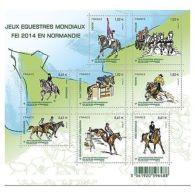 France Feuillet N°4890 Jeux équestres Mondiaux 2014 En France - Sheetlets