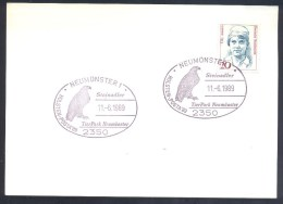 Germany Deutschland 1989 Card: Fauna Birds: Eagle Adler Aigle Aquilla Aguila Stein Adler (Aquila Chrysaetos) - Adler & Greifvögel