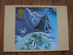 51071 POSTCARDS: STAMPS (PICTURES):  45p Weather (Much Rain / Stormy). - Stamps (pictures)