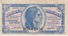 BILLETE DE ESPAÑA DE 50 CTS DEL AÑO 1937 EBC LETRA B  (BANKNOTE) - [ 2] 1931-1936 : República