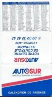 Calendrier De Poche/Controle Technique Automobile / Autosur///1997      CAL299 - Calendriers