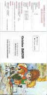 Calendrier De Poche/Christian Bazin/Peintre/La Couture Boussey/Eure/1996      CAL288 - Calendriers
