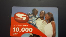 Liberia-cellcom Card-10.000gnf-SAMPLE-card+1card Prepiad Free - Liberia