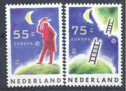 1991 PAYS BAS 1379-80** Europa, Espace - Period 1980-... (Beatrix)