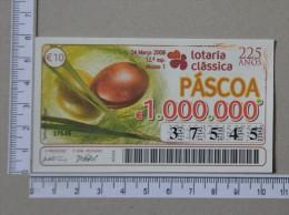 PORTUGAL   2008 - LOTARIA CLASSICA 12ª  ESP - 2 SCANS - (Nº14181) - Biglietti Della Lotteria