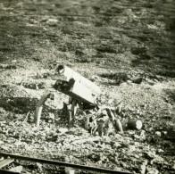 France WWI Douaumont Meuse Debris D'un Canon 155 Allemand Ancienne Photo SIP 1914-1918 - War, Military