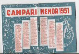 Vademecum CAMPARI  De Poche 1951 - Calendriers