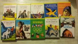 10 Livres Série Verte, , Rdv Aux Jeux Olympiques, Lancelot, Belle Et Sébastien, ....   Voir Photo  Dans Un Bon état , Le - Books, Magazines, Comics