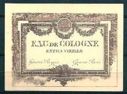 ETIQUETTE - HONORE PAYAN - EAU DE COLOGNE EXTRA VIEILLE 7x9,5cm - Etiquettes