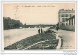 CPA 78 - MANTES   (Yvelines) - 8. Bords De La Seine Et Pont Perronet (petite Animation) - Mantes La Jolie