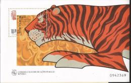 B)1998 MACAO, LUNAR TIGER YEAR, ANIMAL, TIGER, SOUVENIR SHEETS, MNH - Used Stamps