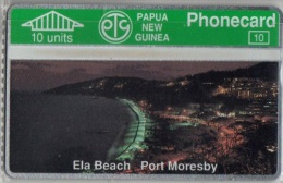 Papua New Guinea - PNG-004, Ela Beach  Port Moresby, CN:108A, 10U, 20.000ex, 9/91, Mint - Papua New Guinea