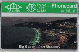 Papua New Guinea - PNG-005, Ela Beach  Port Moresby, CN:108A, 25U, 15.000ex, 9/91, Mint - Papua New Guinea