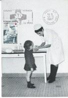 1509 - CROIX-ROUGE 1966 - INFIRMIÈRE ET ENFANT  - Flamme Concordante PARIS RP - 1960-69