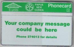 Papua New Guinea - PNG-007, Your Company Message, CN:110F, 5U, 24.000ex, 1/92, Mint