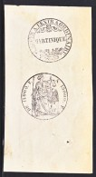 MARTINIQUE  STAMPED  REVENUE  PIECE - Covers & Documents