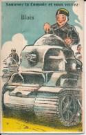 Blois (41 Loir Et Cher) Système Dépliant 10 Vues - Char D'assaut - Tank - Soulevez La Coupole Et Vous Verrez - édit Gaby - Blois