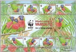 Vanuatu 2011 Birds  Parrots WWF Msh   MNH** - Vanuatu (1980-...)
