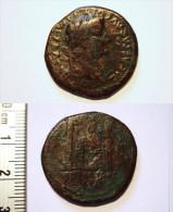 ROME. TIBERIUS. AS. AUTEL DE LYON. ROMA. - 1. La Dinastia Giulio-Claudia Dinastia (-27 / 69)