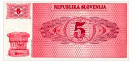 SLOVENIA 5 TOLARJEV 1990 Pick 3a Unc - Slovenia