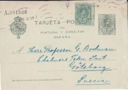 ENTIER POSTAL + TIMBRE POUR LA SUÈDE 1920 - 1850-1931