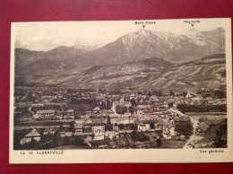 73 Savoie Cpa ALBERTVILLE Vue Générale  Belle Etoile Et Négresse - Albertville