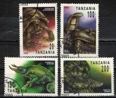 TANZANIA - 1993 - RETTILI - REPTILES - USATI - Tanzania (1964-...)